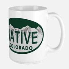 Native Colo License Plate Mug