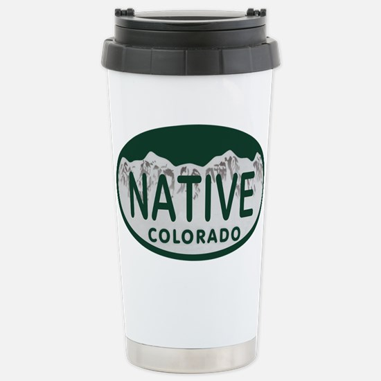 Native Colo License Plate Stainless Steel Travel M
