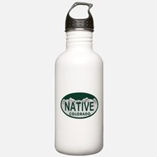 Native Colo License Plate Water Bottle