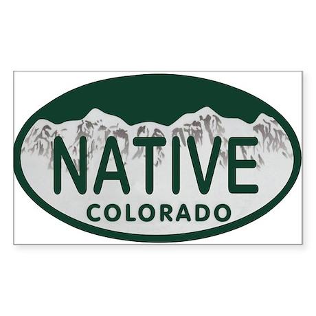 Native Colo License Plate Sticker (Rectangle)