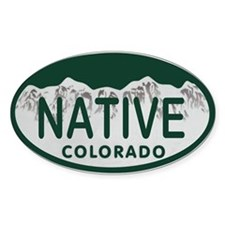 Native Colo License Plate Decal