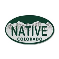 Native Colo License Plate Wall Decal