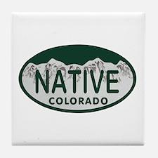 Native Colo License Plate Tile Coaster