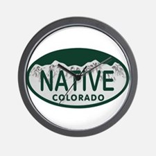 Native Colo License Plate Wall Clock