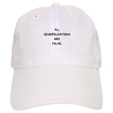 generalizations are false Baseball Cap
