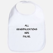 generalizations are false Bib