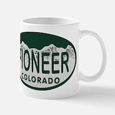 Pioneer Colo License Plate Mug