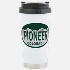 Pioneer Colo License Plate Travel Mug