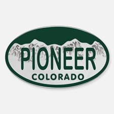 Pioneer Colo License Plate Decal
