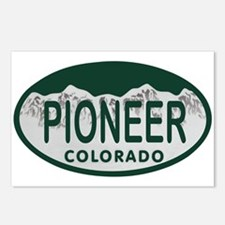 Pioneer Colo License Plate Postcards (Package of 8