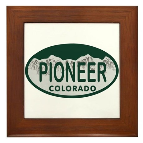 Pioneer Colo License Plate Framed Tile