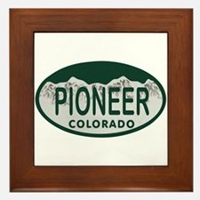 Pioneer Colo License Plate Framed Tile