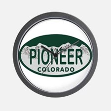 Pioneer Colo License Plate Wall Clock