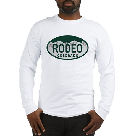 Rodeo Colo License Plate Long Sleeve T-Shirt