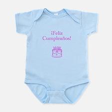 Spanish Birthday Pink Infant Bodysuit