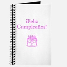 Spanish Birthday Pink Journal