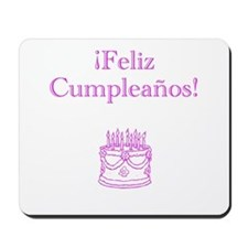Spanish Birthday Pink Mousepad
