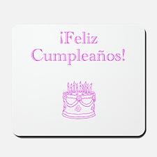 Spanish Birthday Pink Mousepad