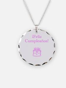 Spanish Birthday Pink Necklace