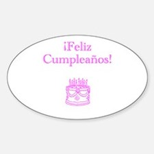 Spanish Birthday Pink Decal