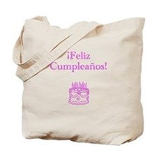 Spanish Birthday Pink Tote Bag
