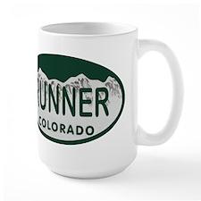 Runner Colo License Plate Mug