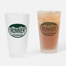 Runner Colo License Plate Drinking Glass