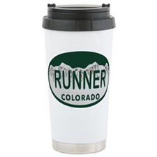 Runner Colo License Plate Travel Mug
