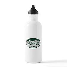 Runner Colo License Plate Water Bottle