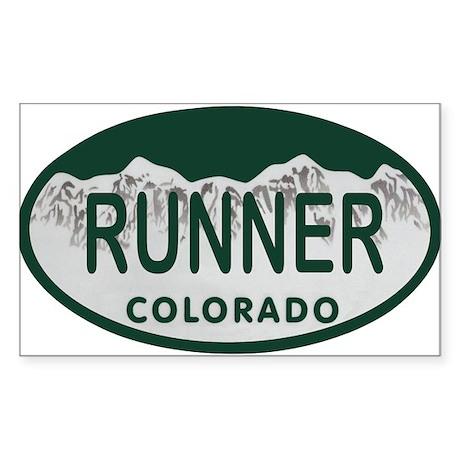 Runner Colo License Plate Sticker (Rectangle)