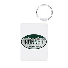 Runner Colo License Plate Aluminum Photo Keychain