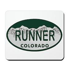 Runner Colo License Plate Mousepad