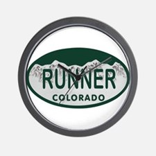 Runner Colo License Plate Wall Clock