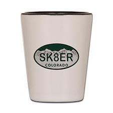 Sk8er Colo License Plate Shot Glass