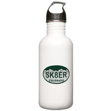 Sk8er Colo License Plate Water Bottle