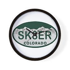 Sk8er Colo License Plate Wall Clock