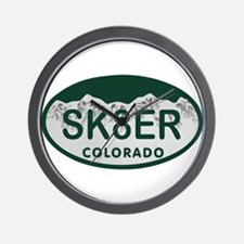 Sk8er Colo License Plate Wall Clock
