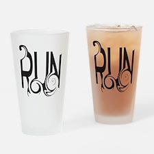 Unique RUN Drinking Glass