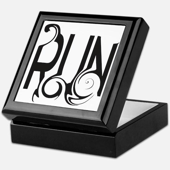 Unique RUN Keepsake Box