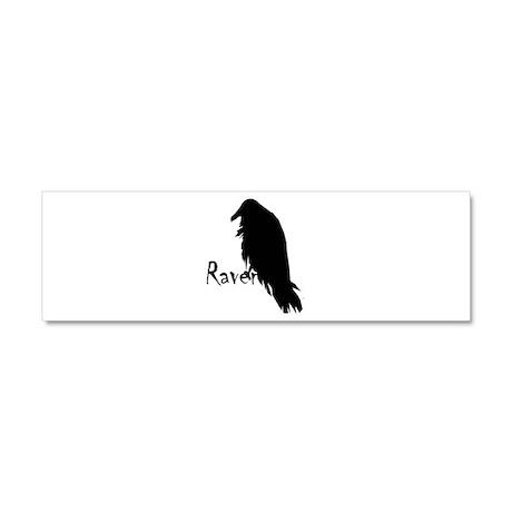 Black Raven on Raven Car Magnet 10 x 3
