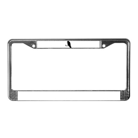 Black Raven on Raven License Plate Frame