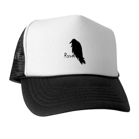 Black Raven on Raven Trucker Hat