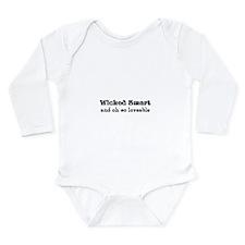 Wicked Smart Long Sleeve Infant Bodysuit