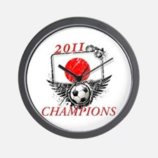 2011 World Cup Champions Japan Wall Clock