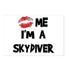 Kiss Me I'm A Skydiver Postcards (Package of 8)