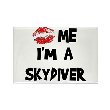Kiss Me I'm A Skydiver Rectangle Magnet (10 pack)
