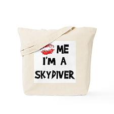 Kiss Me I'm A Skydiver Tote Bag