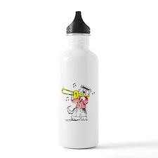 Trombone Cat Water Bottle