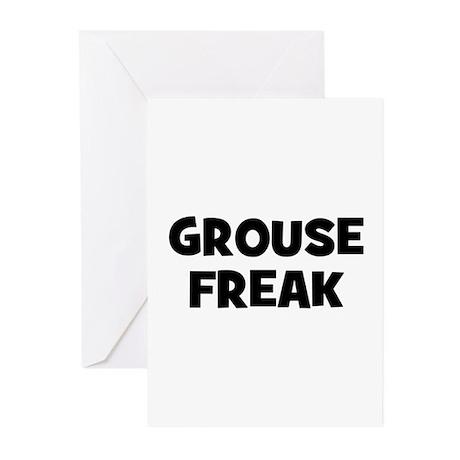 Grouse Freak Greeting Cards (Pk of 10)