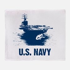 U.S. NAVY Air Craft Carrier Throw Blanket